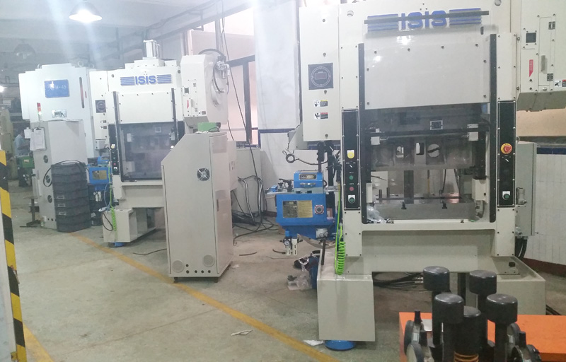 Japan ISIS punching machine with JoeSure high-speed gripper feeder