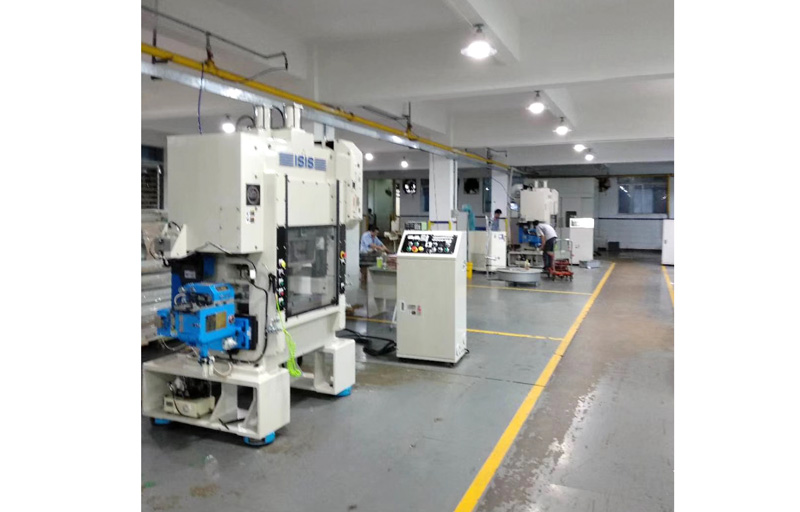 Japan ISIS punch machine with JoeSure clamp feeder
